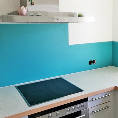Küchenrückwand Matt Blue
