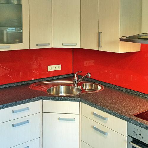 Küchenrückwand Intensive Red