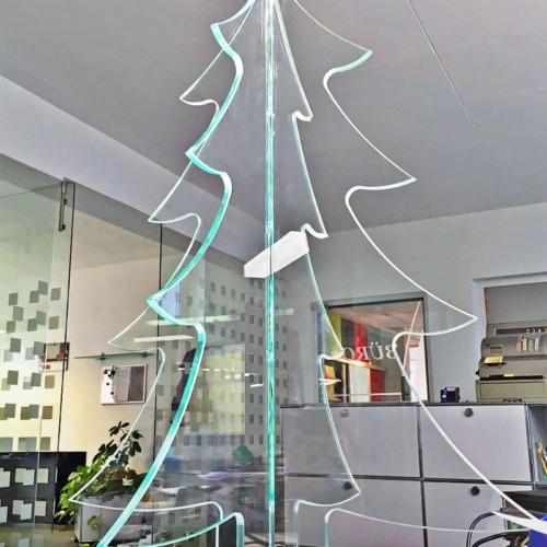 UV-verklebter Weihnachtsbaum aus Weissglas