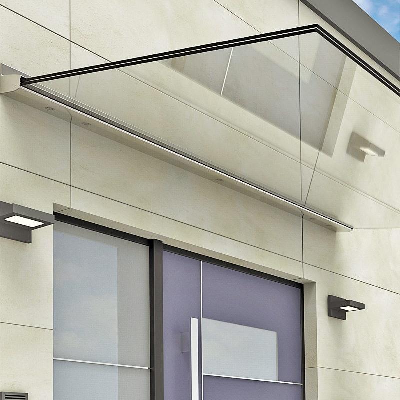 Vordach Klarglas mit System VD1511