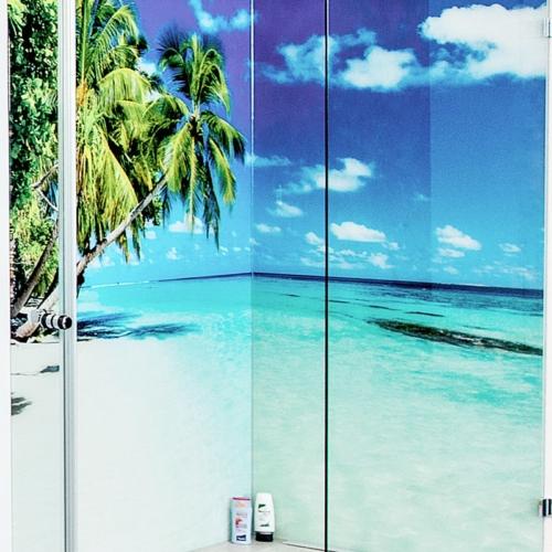 Dusche Walk-In, Rückwand mit Digitaldruck