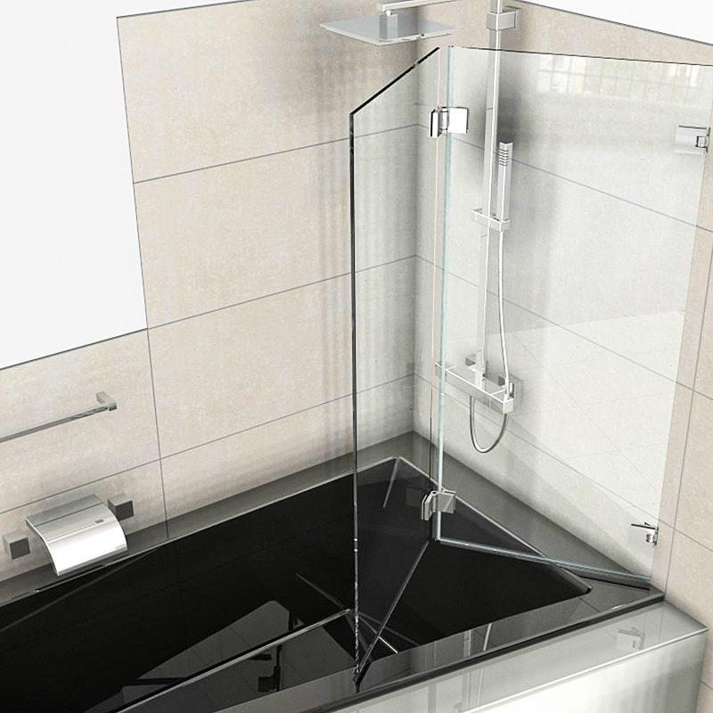 Badewannenaufsatz Faltbar 2-teilig zur Wand