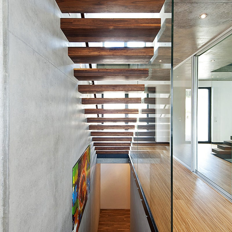 Treppenhausverglasung Klarglas