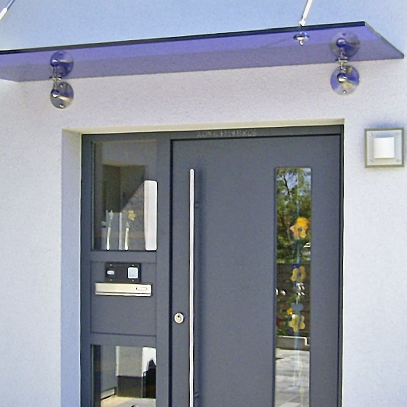 Vordach Basic mit VSG TrueBlue