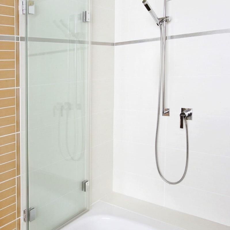 Badewannenaufsatz zweiteilig faltbar, geöffnet