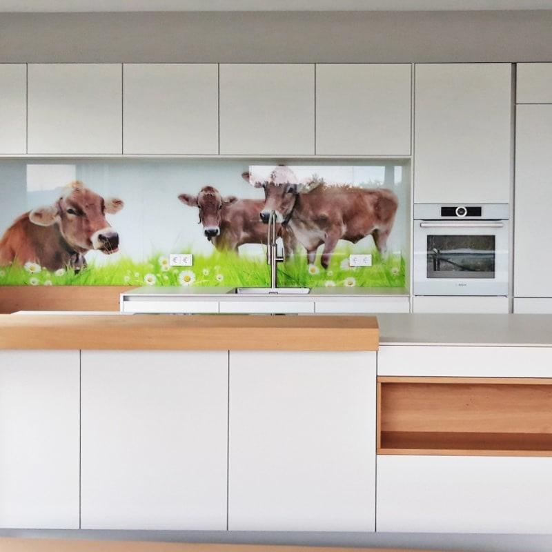 Küchenrückwand mit Digitaldruck