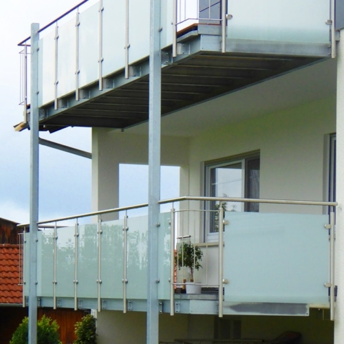 Geländer VSG matte Folie