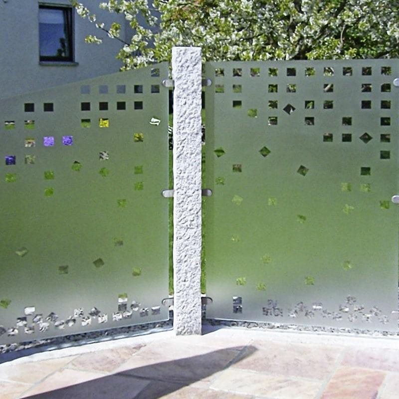 Wind- und Sichtschutz mit Motiv Karofall