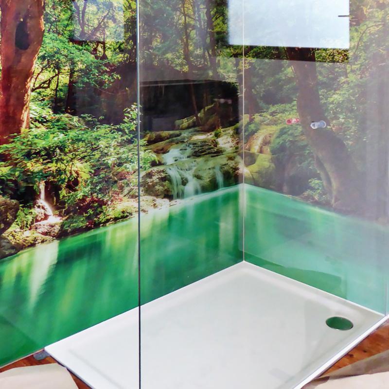 Duschabtrennung Walk In, Rückwände mit Digitaldruck