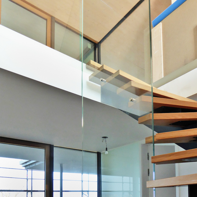 Treppenverglasung Klarglas