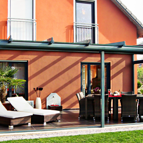Terrassendach mit Front Schiebeanlage VG