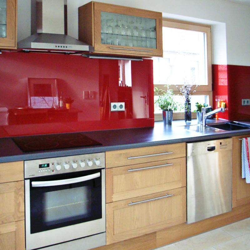 Küchenrückwand Lacobel Intensive Red